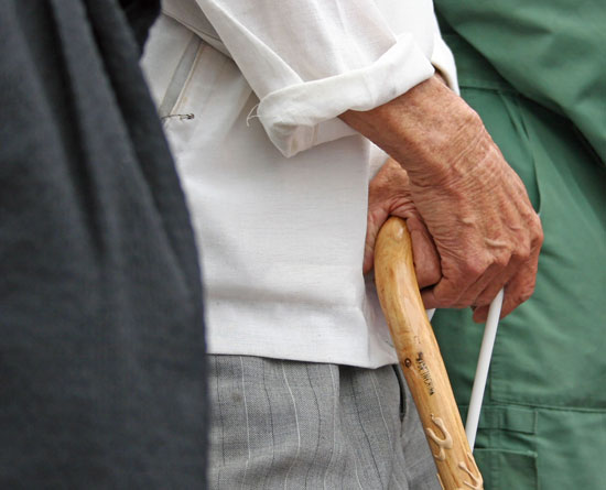 elderly man with a cane is helpless without the assistance of the best elder abuse attorney Los Angeles can offer