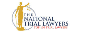 Badge of recognition from the National Trial Lawyers top 100 trial lawyers
