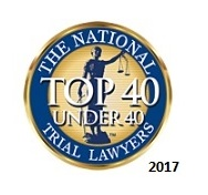 Badge of recognition from the National Trial Lawyers top 40 under 40 for Dmitriy Cherepinskiy